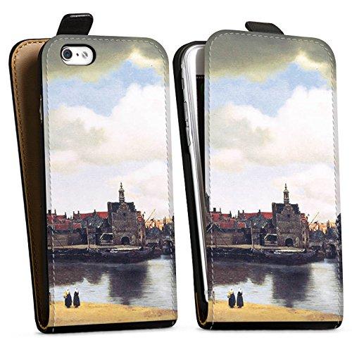 Apple iPhone X Silikon Hülle Case Schutzhülle Jan Vermeer Gemälde Kunst Downflip Tasche schwarz