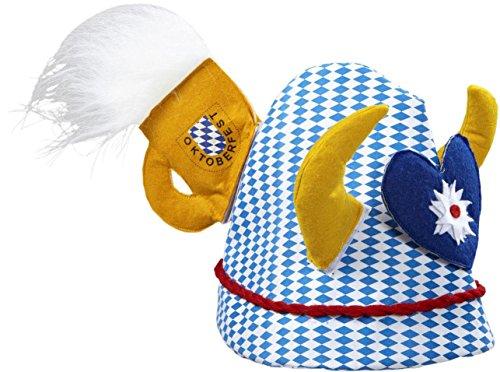 Preisvergleich Produktbild OKTOBERFEST-Hut mit Hörnern