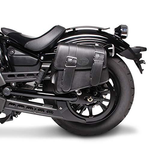 Motorrad Satteltasche für Custom Bikes Montana schwarz links -