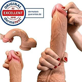 Dildo - Realistischer Dildo - 22cm - stolzer Dildo als Sexspielzeug aus doppellagigem Silikon mit Saugnapf von Aurelia ® - Dermatest Zertifikat exzellent