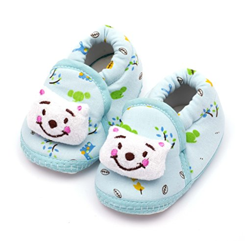 Infano Teddy Style Printed Blue Color Baby Shoes New (1 Pair)