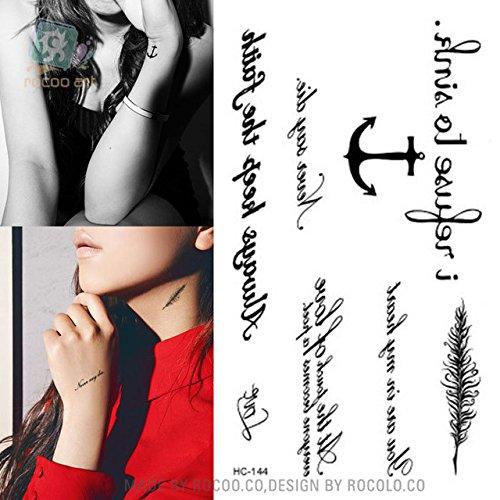2 x Sticker pour tatouage étanche sexy motifs