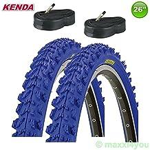 01022614KB 2x Kenda MTB neumáticos de bicicleta techo + 2mangueras–26x 1.95–50–559(Azul)