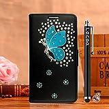Locaa(TM) For Nokia Lumia 1020 Nokia1020 Lumia1020 3D Bling Case Funda Cuero Para Protector Dura Accesorios Funda Bumper Shell Caso Alta Calidad Piel Phone Cover Cas [3] Negro - Cristal hadas