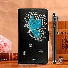 Locaa(TM) Pour Nokia Lumia 920 Nokia920 Lumia920 3D Bling Case Coque Étui Love Cuir Qualité Housse Chocs Couverture Protection Cover Shell Etui For Phone Avec [Couleur 3] Cristal fée - Noir