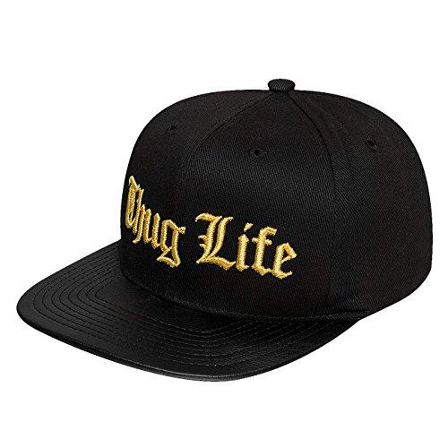 Lifes Golden Baseball (Thug Life Herren Caps / Snapback Cap Golden Logo schwarz Adjustable)