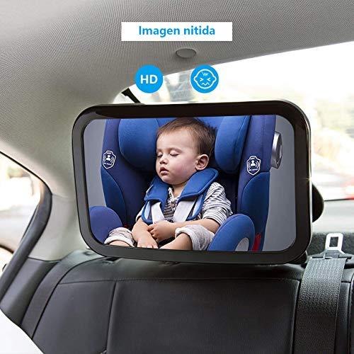 360/° Ajustable Irrompible Interior Espejo para Silla Trasera Espejo Coche Bebe Asientos de Ni/ños Orientados hacia Atr/ás Bever Espejo Retrovisor Coche de Beb/é para Vigilar al Beb/é en Coche