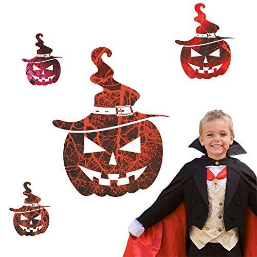Halloween Dekoration Lächeln Gesicht Kürbis Wandaufkleber Abziehbilder Wohnzimmer Schlafzimmer Wandtattoos Shop Kühlschrank Fenster Dekor (Weiße Halloween Malen Gesicht)