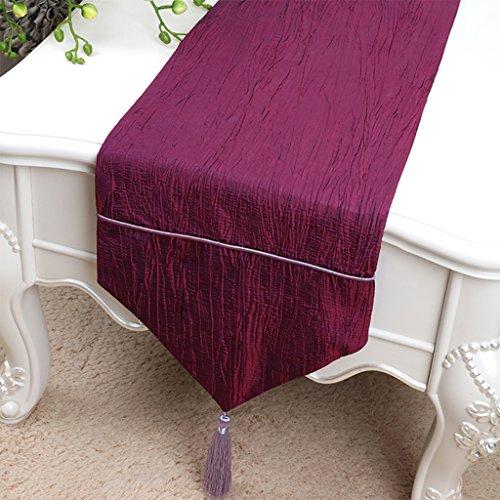 YXX- Style Européen Pur Couleur Table Runner Table À Manger Café Bureau Shoebox TV Cabinet Machine À Laver Nappe Couverture Serviette ( Couleur : Violet , taille : 33*150cm )
