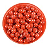 #4: Eshoppee glass beads lot diy kit-round handmade handcrafted glass beads(100 gm , 8mm ),red opaque