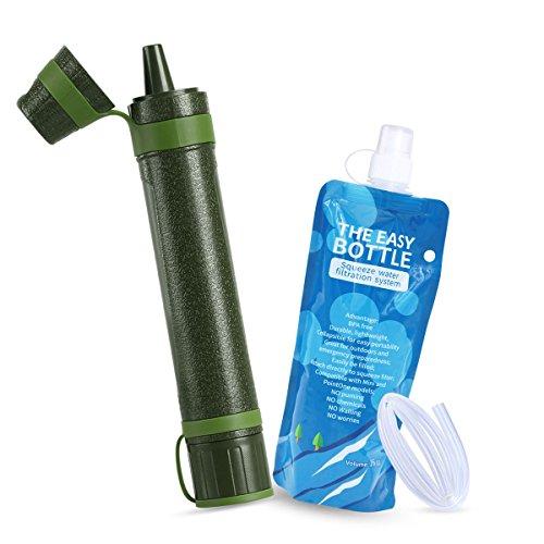 Axmda Mini Wasserfilter Outdoor Camping Filter Wasseraufbereitung Notfall-Vorsorge-Kits für Wandern & Rucksackreisen