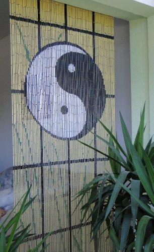 """Bambustürvorhang Bambusvorhang Türvorhang \""""Ying Yang\"""" ca. 90x200cm"""