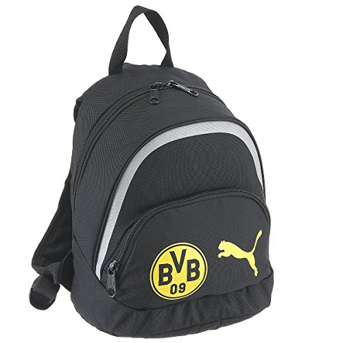d08a267be1 Puma Zaino per Bambini BVB Kids Backpack, Black/Cyber Yellow, 22,3 x 15 x  28 cm, 1,0 litro, 074149 01