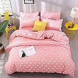 DOTBUY Bettbezug Set, 3 Stück Super Weiche und Angenehme Mikrofaser Einfache Bettwäsche Set Gemütlich Enthalten Bettbezug & Kissenbezug Betten Schlafzimmer