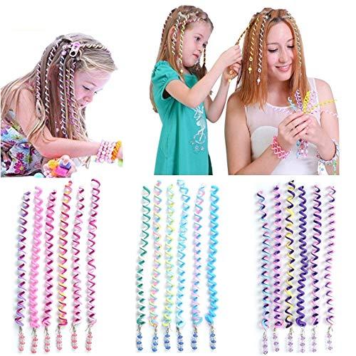 BUYGOO 18PCS Haar Torsion Haarschmuck mit Strass - Bunt Mädchen Haar Styling Twister Haarspiralen Haar Accessoires Mehrfarben für Mädchen und Frauen