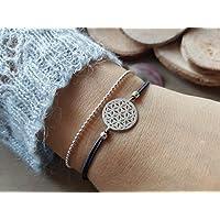 Lebensblume mit Kugelkette – Twist-Armband