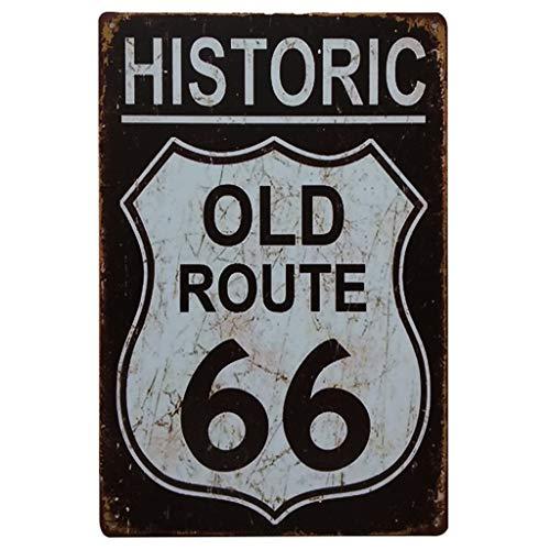 LIGESAY Route 66, Europäische und amerikanische Retro Metallmalereien Metallplakat hängen Bunt Wolf Farbe Natur Chinesische Landhaus Flugzeug Geburtstag Delphin -