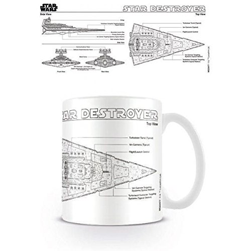 Star Wars Destroyer Sketch Keramik Tasse