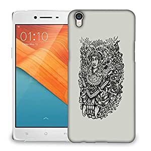 Snoogg Adivasi Face Designer Protective Back Case Cover For OPPO R9 PLUS