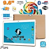 Tablette 4G 9.6 pouces Android 5.1 Dual SIM Octa Core GPS 32Go Or