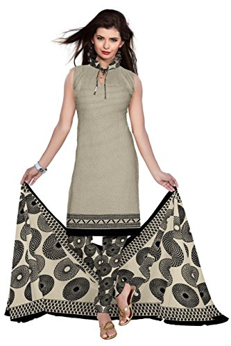 DnVeens Synthetic Unstiched Churidar Printed Salwar Suit Dress Materials for Women SANAM1013