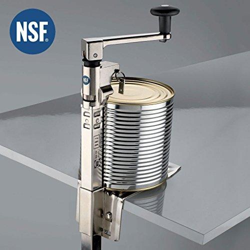 BOJ 01117 - Abrelatas de mesa industrial para hostelería modelo JFA con certificado NSF (niquelado)