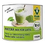Raab Vitalfood Bio Matcha-Mix for Latte, Grüntee-Extrakt aus Japan, Premium Qualität, laborgeprüft, vegan, 90 g