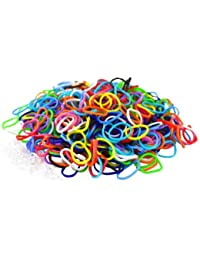 SODIAL(R) 3000 Colourful LOOM BANDS & 125 Clips!