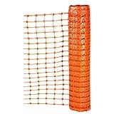 Fronttool Fangzaun Schutzzaun Warngitter Warznnetz Absperrzaun Absperrnetz Absperrgitter Bauzaun Sicherheitszaun 50 x 1 m - orange