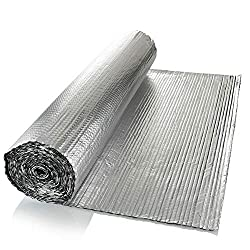 SuperFOIL General Purpose Foil Insulation (1m x 7m) - 4mm Double Layer Heat Reflector for Walls, Floors, Roofs, Campervans & Caravans | 1x Roll of Aluminium Bubble Wrap