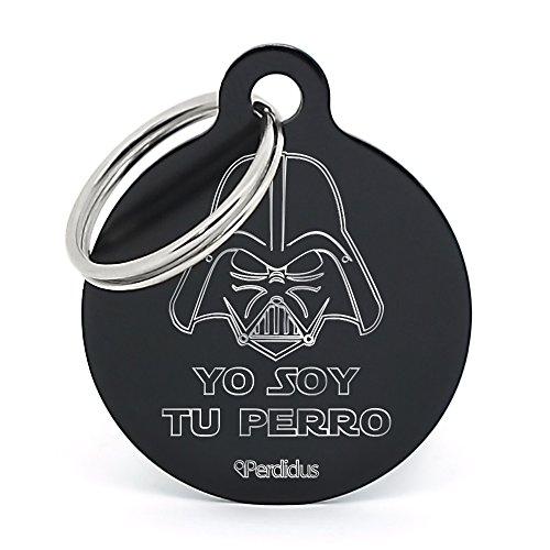Placa Identificativa para Perro 'Yo Soy tu Perro', Grabado del Nombre y...