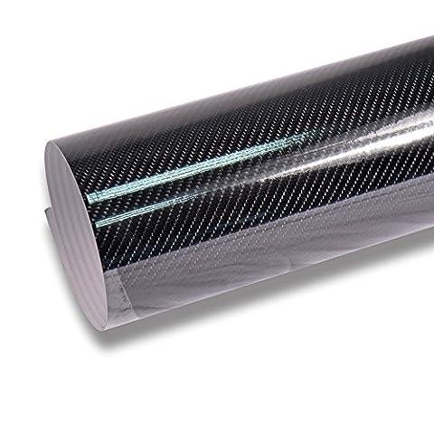 TECKWRAP High Gloss 4D Black Carbon Fiber Vinyl Wrap Film Sheet pour voiture DIY Décoration d'intérieur 30cmx1.5m