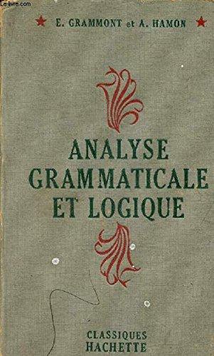 Analyse grammaticale et logique,