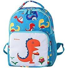 Fossrn Mochilas Niños Escolares Dinosaurio Animal Infantil Bolso Escolar para infantiles Niño Niña Guardería Primaria