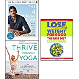 4 pillar plan, lose weight for good fast diet for beginners and thrive through yoga 3 books collection set - how to relax, eat, move and sleep your way to a longer, healthier life, weight loss with intermittent fasting, a 21-day journey to ease anxiety, love your body and feel more alive
