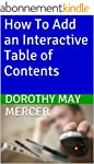 How To Add an Interactive Table of Co...