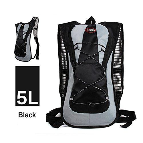 Forfar 1 Stück Wanderrucksack 5L Leichter Trekkingrucksack für Outdoor-Sport Reisen Radfahren Klettern Bergsteiger Klettern (Mit Mikrofaser Reißverschluss Geldbörse)