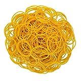 Rbenxia 1000pcs Gummi-Armbänder, Gelb, mitDollar mit Elastic Elastisches Band, allgemein, robust, Gummi-Armbänder für Zuhause oder Büro, Handwerk, rubberbands Gummi-Ring