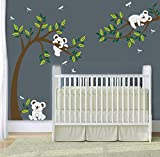 MAFENT Three cute koalas play around the tree wall sticker removable vinyl wall decal for nursery room decoration by MAFENT