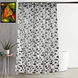 "Kuber Industries Floral PVC Shower Curtain with 8 Hooks - 54""x84"", Multicolour"