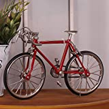 shunlidas Home Deko Dekoration Schlafzimmer Figurinehandgemachtes Fahrrad Lebensechtes Altes Fahrrad Fährt Kreative Geschenke, Gules Rad