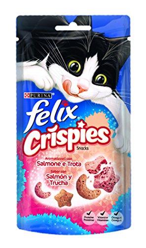 Purina FELIX Crispies Salmón y Trucha 8 paquetes de 45 gr - Total: 36