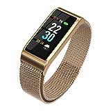 QL Smart Watch, IP67 étanche Fitness Tracker avec Sangle en Acier Écran Couleur...