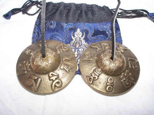 Z-6# Tibet Zimbel Om Mantra mit Tasche