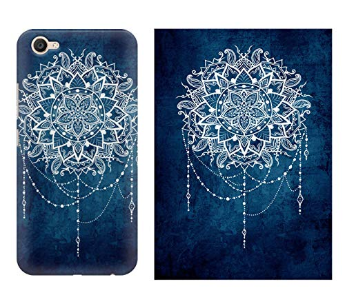 MOTIVATE BOX| 1 Phone Cover and 1 Poster combo| Vivo Y55L back cover and 12*18 inches rolled wall poster of Ethnic design on blue pattern Poster and phone cover combo (frames are not included) Color S5CP244