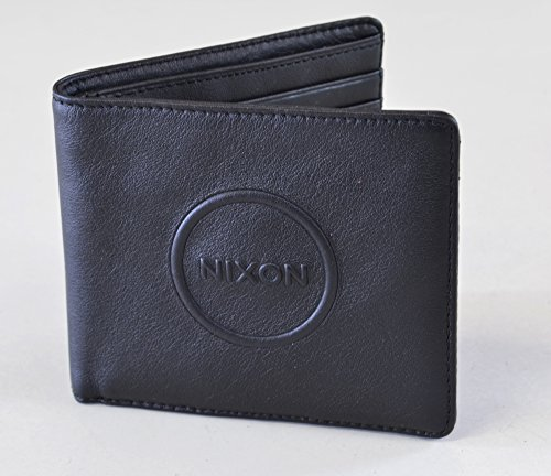 Nixon Geldbörse washed Falttür Zip Wallet Schwarz Medium schwarz (Geldbörse Brown-leder-gefaltete -)
