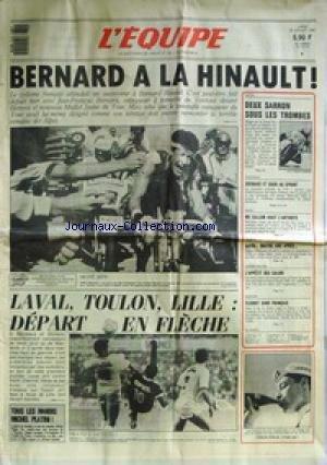 EQUIPE (L') [No 12813] du 20/07/1987 - LE TOUR - HINAULT - LAVAL - TOULON - LILLE - FOOT - MOTO - SARRON - BOXE - MC CALLUM - TENNIS - GALEA - CANOE - ESCRIME. par Collectif