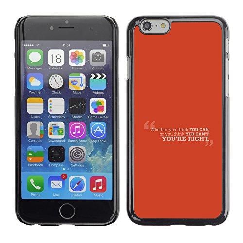 Graphic4You Dont Settle Love Englisch Zitat Nachricht Harte Hülle Case Tasche Schutzhülle für Apple iPhone 6 / 6S Design #7