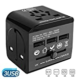 Travel Adapter, AceTend Adattatore Universale da Viaggio All-in-one Universal Multipresa Internazionale (US/EU / UK/AUS) Caricatore Portatile Converter