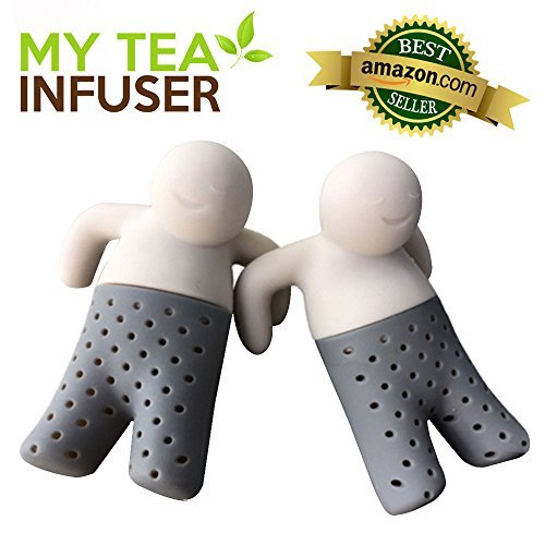 My Tea Infuser | Set of 2 The Most Innovative Design With Efficient Filter and Infuser | Premium Food Grade Silicone | Microwave Friendly Long Lasting and Anti Damage Adaptive To Loose Tea Leaves Bags by My Tea Infuser Panda Versorgt